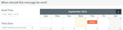 cài đặt thời gian gửi email marketing miễn phí
