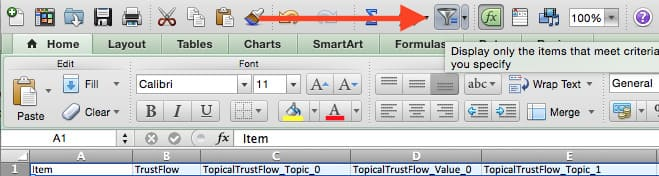tạo bộ lọc trust flow
