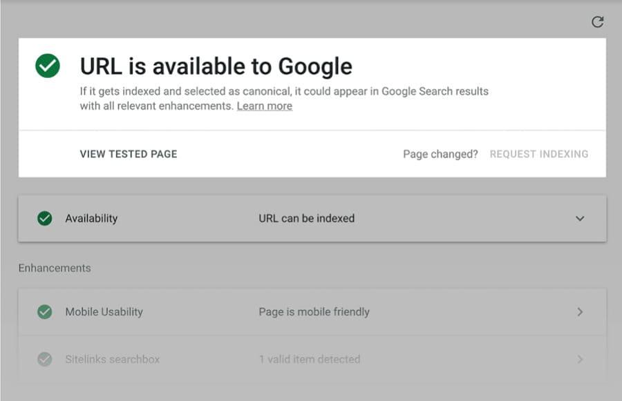 Google vẫn đang index