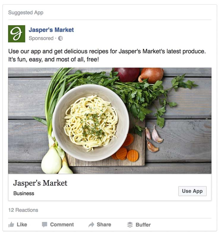 hình thức quảng cáo facebook