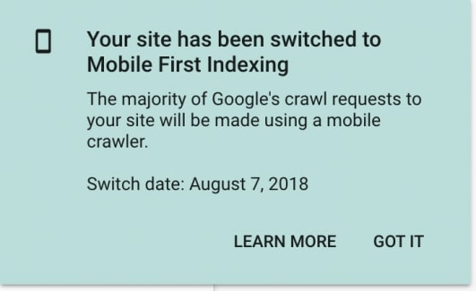 switch to Mobile-first index