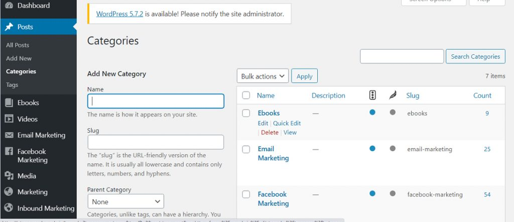 category - tag trong WordPress