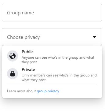 cài đặt quyền riêng tư group facebook