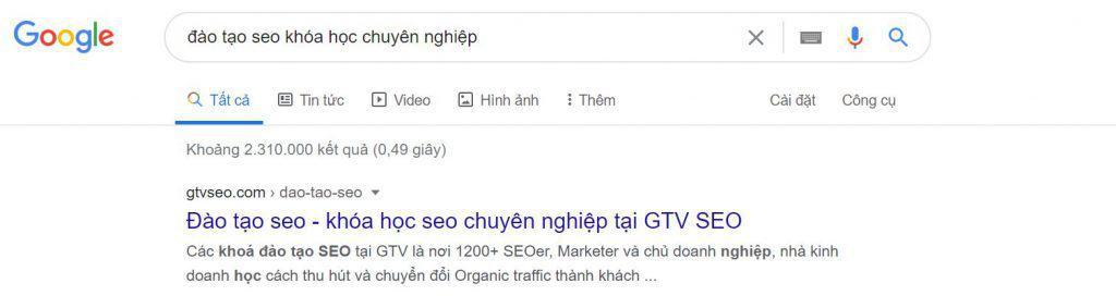 Organic Traffic mục tiêu quan trọng trong  kế hoạch Marketing Online