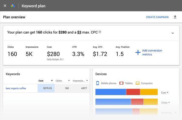 hướng dẫn seo top google với keyword planner