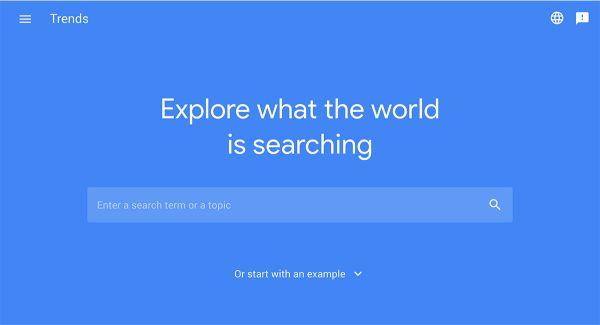 SEO google bằng google trends